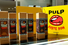 Vapotime Béziers vend des e-liquides dans la galerie de Auchan.